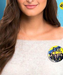 Girl wearing BTS k-pop badge